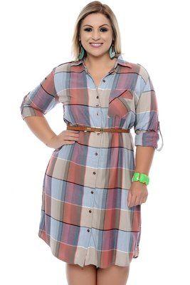 d96c1a555df294 Vestido Plus Size Marie | moda pluss | Vestidos para senhoras ...