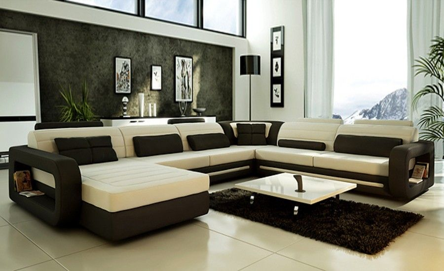 Fine 2014 Hot Sale Modern Big White U Shaped Genuine Leather Ncnpc Chair Design For Home Ncnpcorg