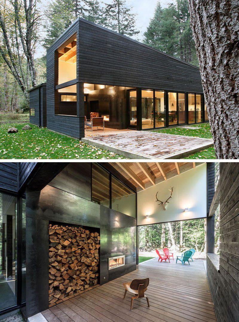 Casa de campo moderna dise ada pr xima a un r o - Ideas para construir casas campo ...