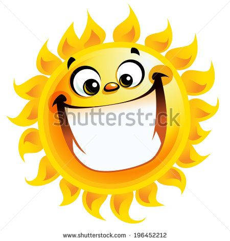 Shining Yellow Excited Smiling Sun Cartoon Character As Good