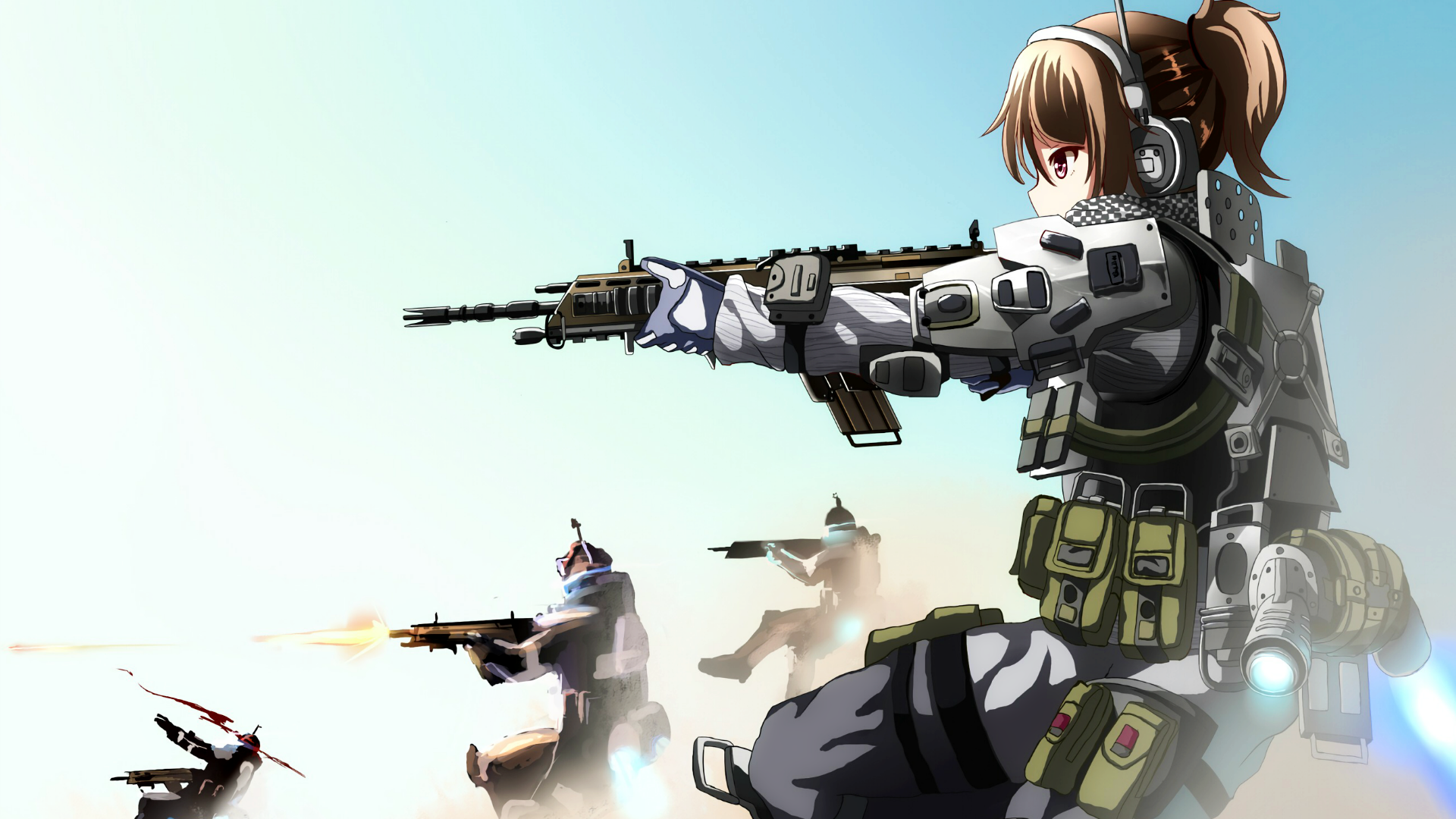 Pin by nope on weapons armor anime military anime art - Anime girl with weapon ...