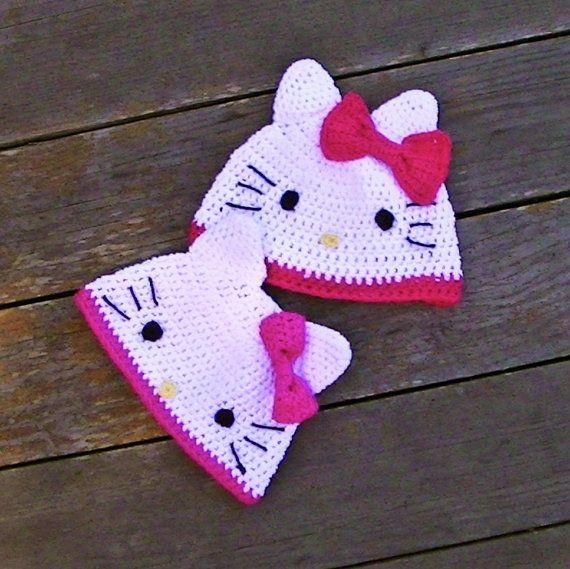 Pattern Hello Kitty Beanie Crochet Hat Pdf Fun To By Lizzziee 399