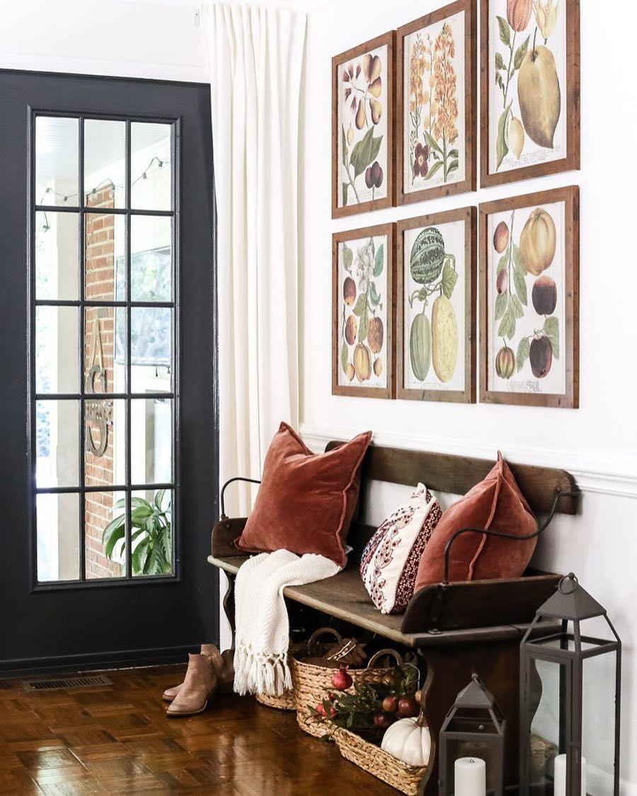 Antique bench interior pinterest bench velvet pillows and foyers