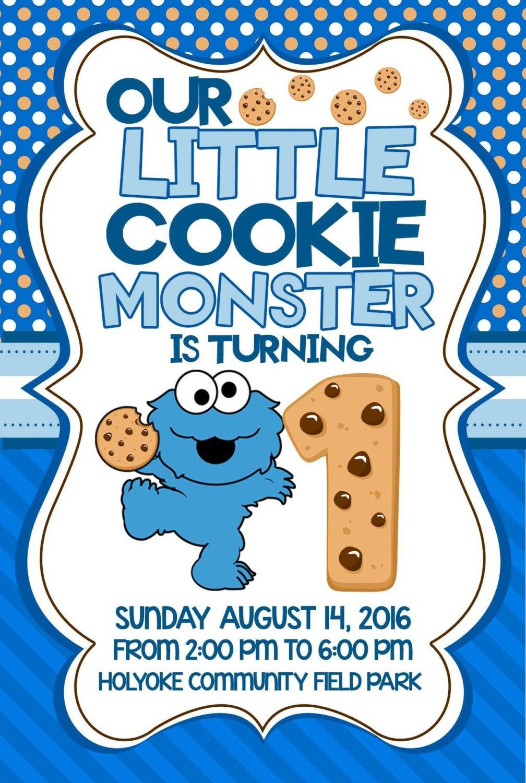 Cookie Monster Birthday Invitations Etsy Monster Birthday Invitations Monster Invitations Cookie Monster Birthday Party