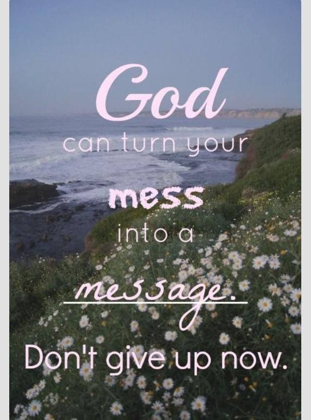 God Can and will Fix the Mess
