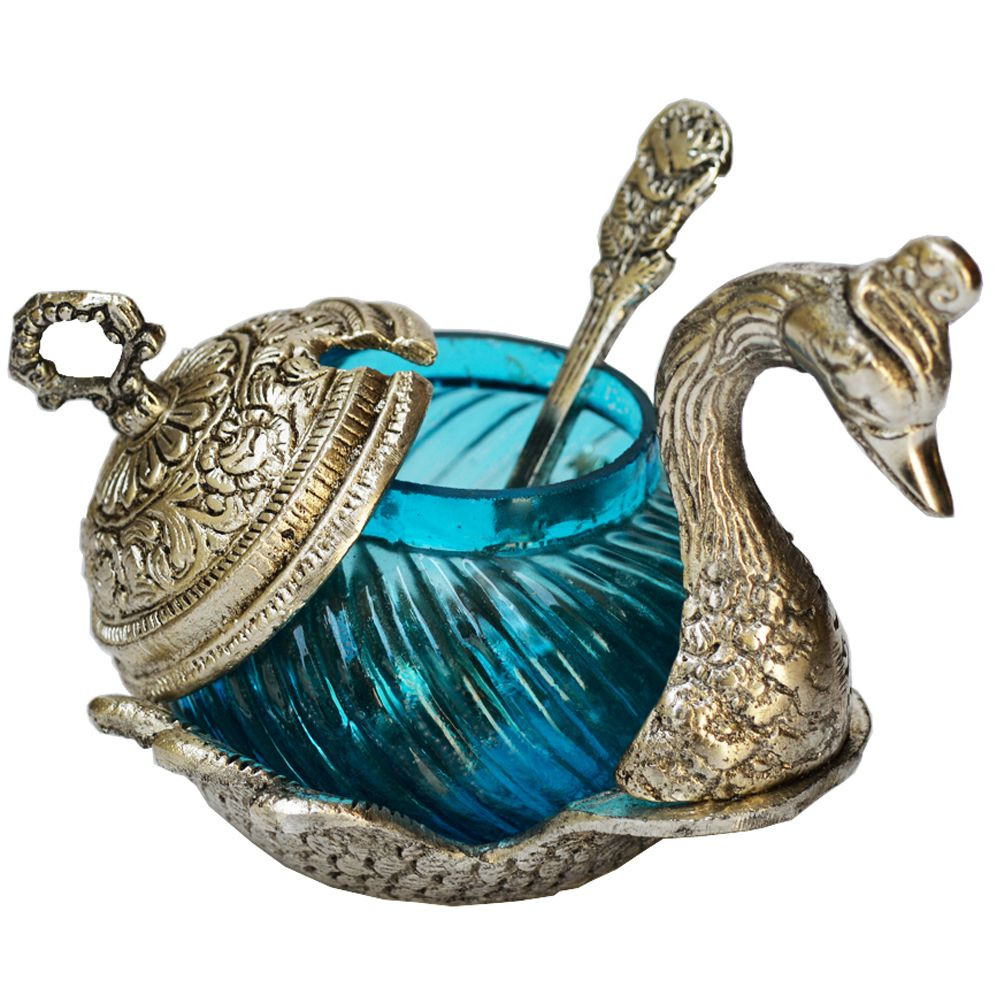 White Metal Duck Shaped Bowl.....! its very useful for our