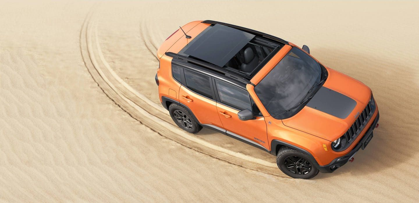 2018 Jeep Renegade Exterior My Sky Sunroof My Sky Retracted Jeep