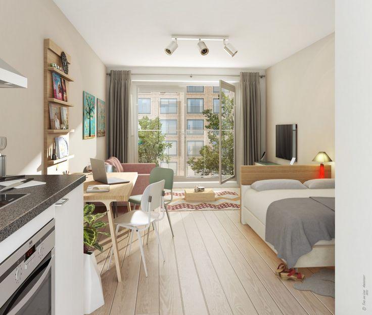 afbeeldingsresultaat voor studio inrichten 20m2 op kamers pinterest studio inrichten. Black Bedroom Furniture Sets. Home Design Ideas
