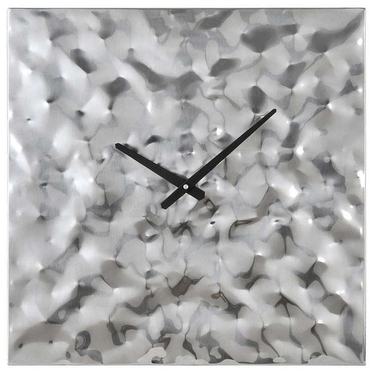 Couture Clock From Ren Wil Is Made Of Pounded Chrome