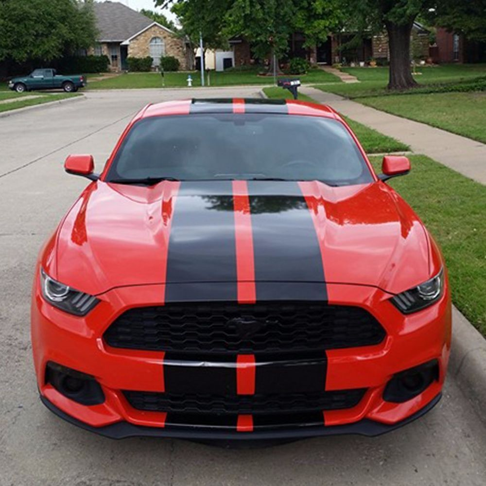 Decal sticker stripe body kit for ford mustang gt led light spoiler carbon hood ultimateprocy1