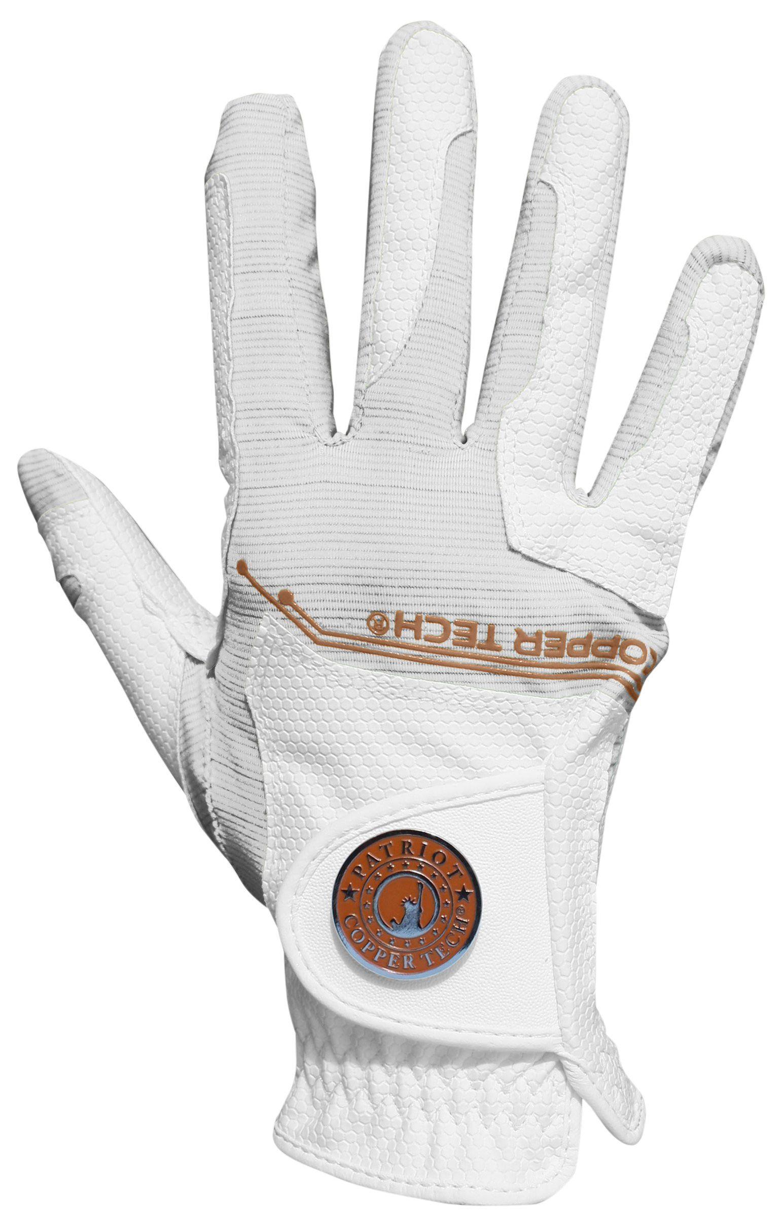 Golf glove copper tech gloves womens golf glove white