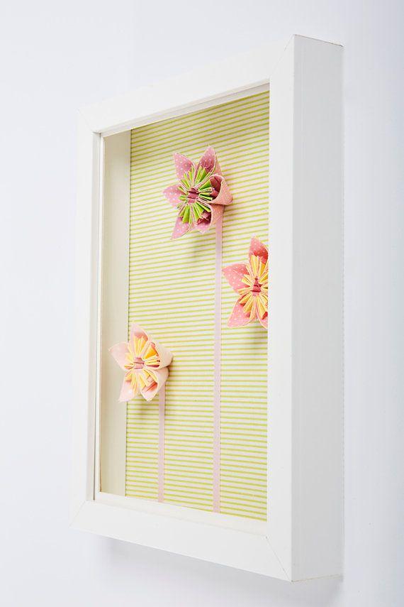 Framed floral wall Art 3D wall decoration floral por Nuppi ...