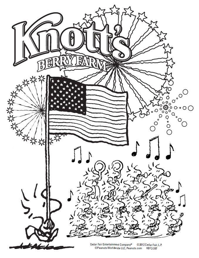 Woodstock 4th of July Coloring Page(1).jpg (678×877) | mandalas ...