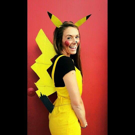 Homemade DIY Pikachu costume