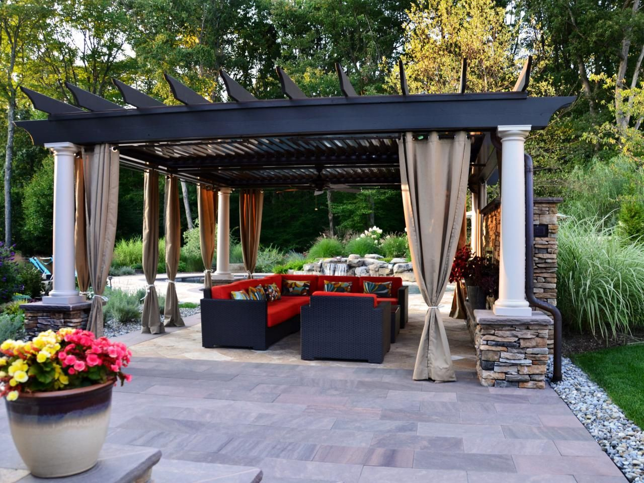 17 Engrossing Ideas To Make Your Yard More Enjoyable With Pergola With Curtains Outdoor Pergola Backyard Pergola Pergola Patio