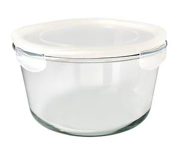 Recipiente para alimentos en vidrio y plástico Round - grande