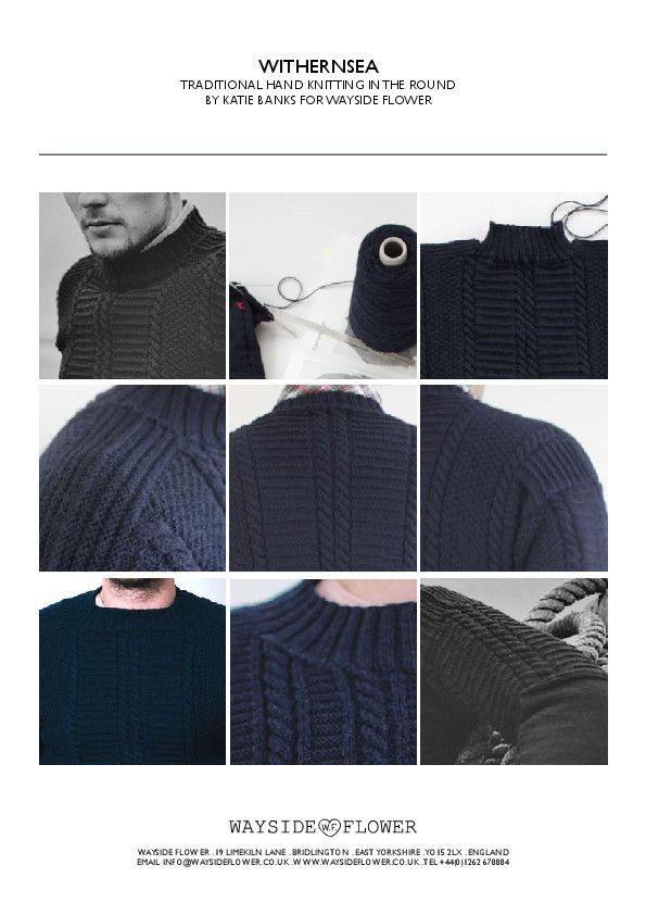 Gansey Knitting Pattern - Withernsea Gansey - Hand Knitting by ...