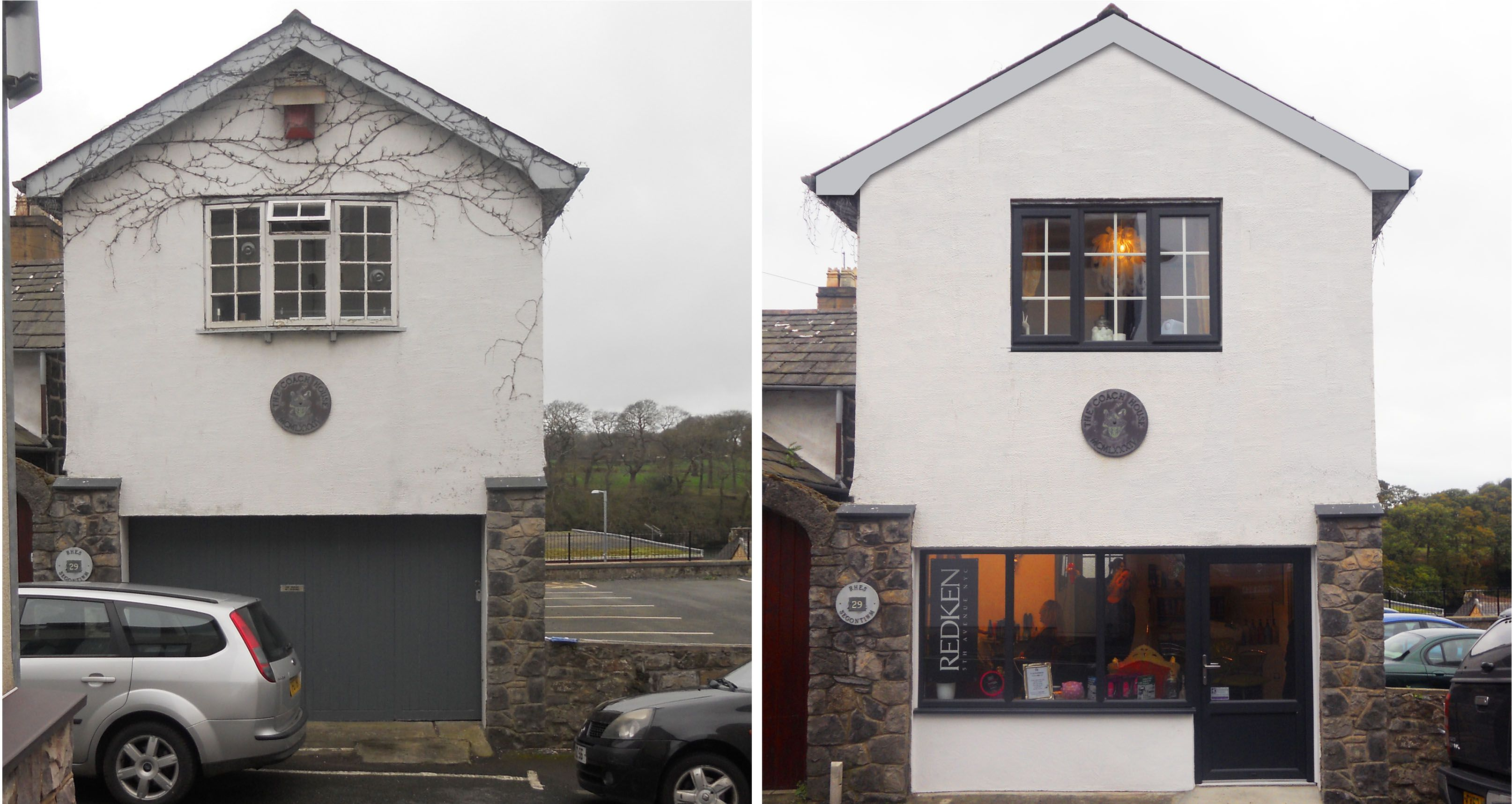Garage To Hair Salon Conversion Before And After Greenheartarchitectscouk