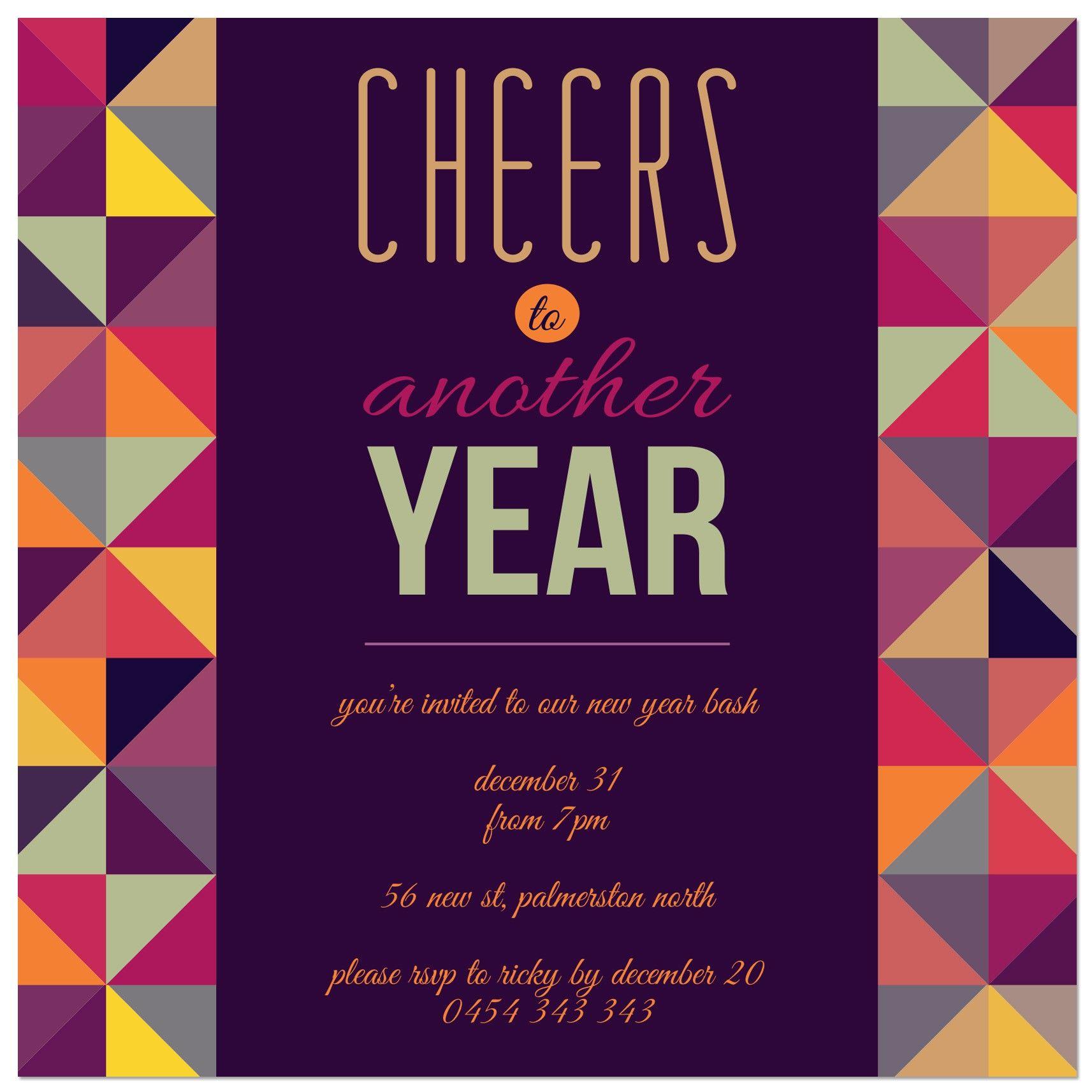 geomania new year invitations new years eve holidays