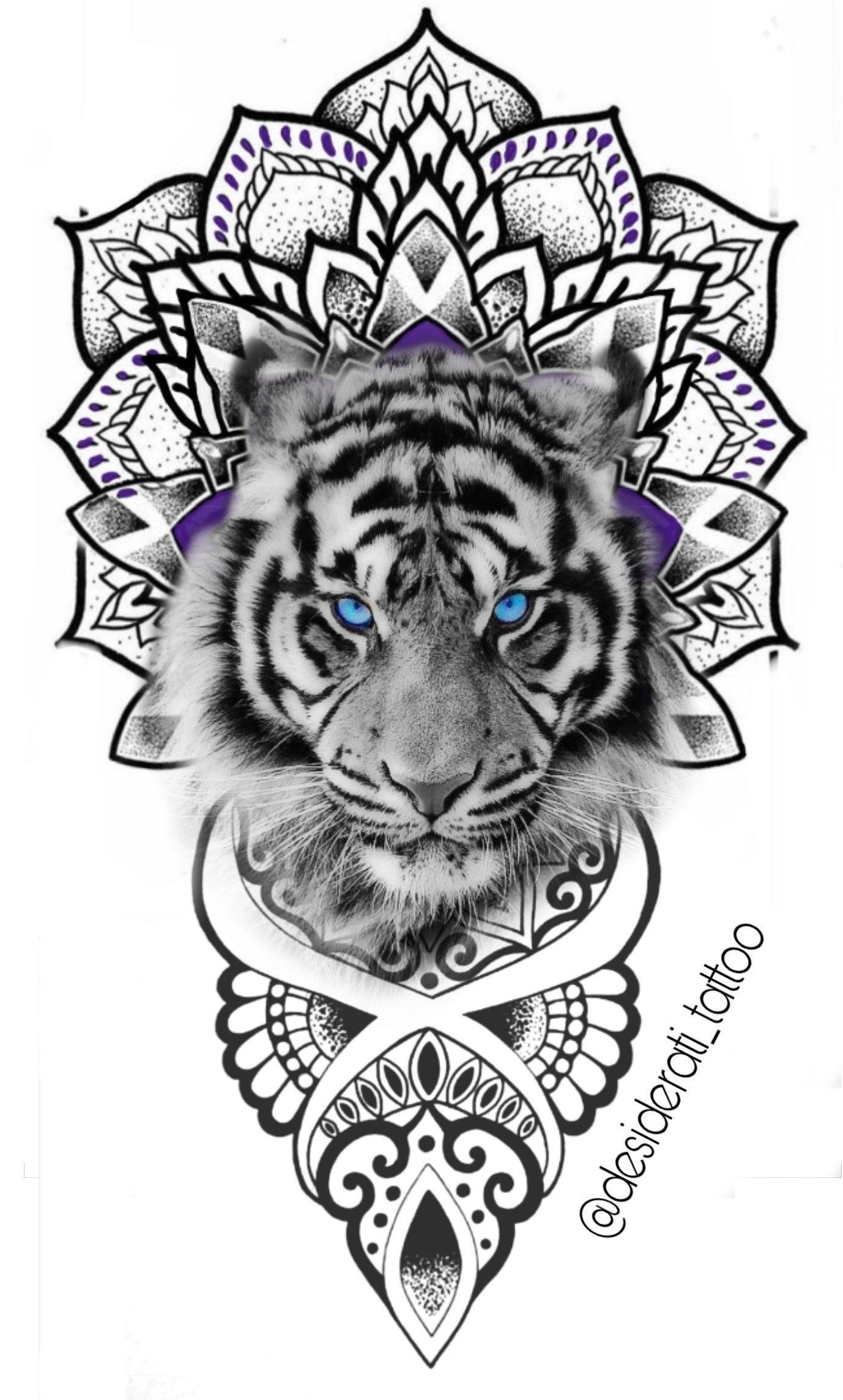 Tattoo mandala tigre Estilos de letras para tatuagem