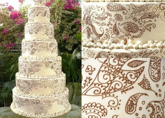 Paisley Mehndi Cake : Henna paisley wedding cake by elinor stuff for brit