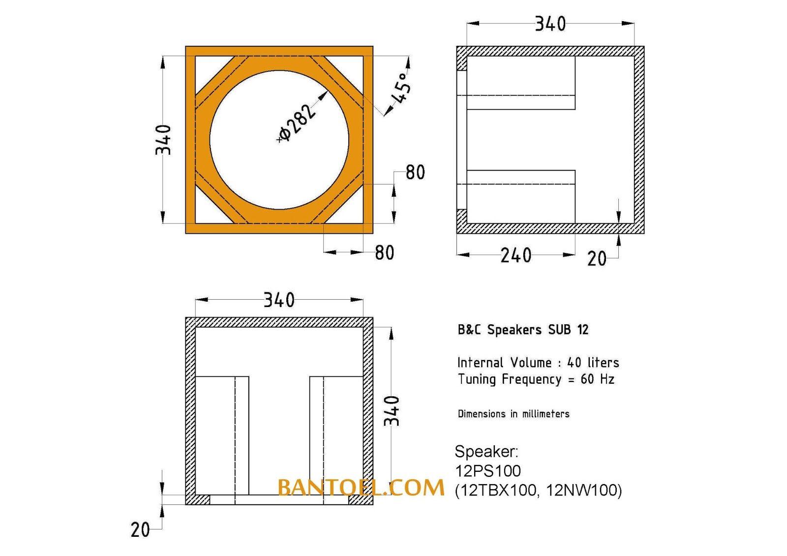 Skema Box Sub B C 12 Inch Speaker Teknologi