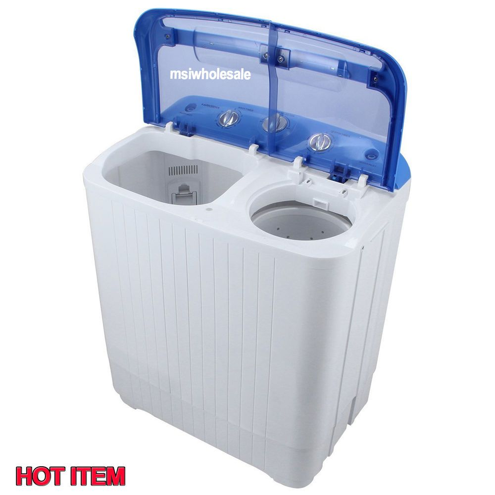 Small Portable Mini Washing Machine Compact Washer Spin Dryer