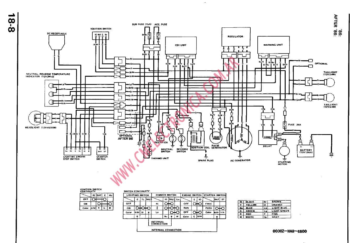 Honda Trx 250 Wiring Diagram Also Yamaha Ybr 125 Wiring Diagram ...