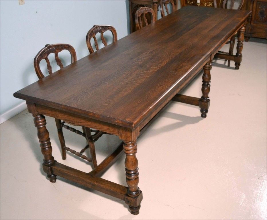 Antique French Flemish Dining Table Dining Table