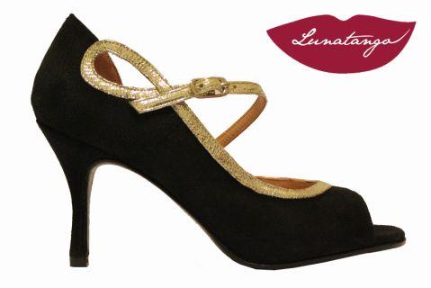 Ocho Black Suede / Lizard Platin Metallic Leather 7,5cm Heel
