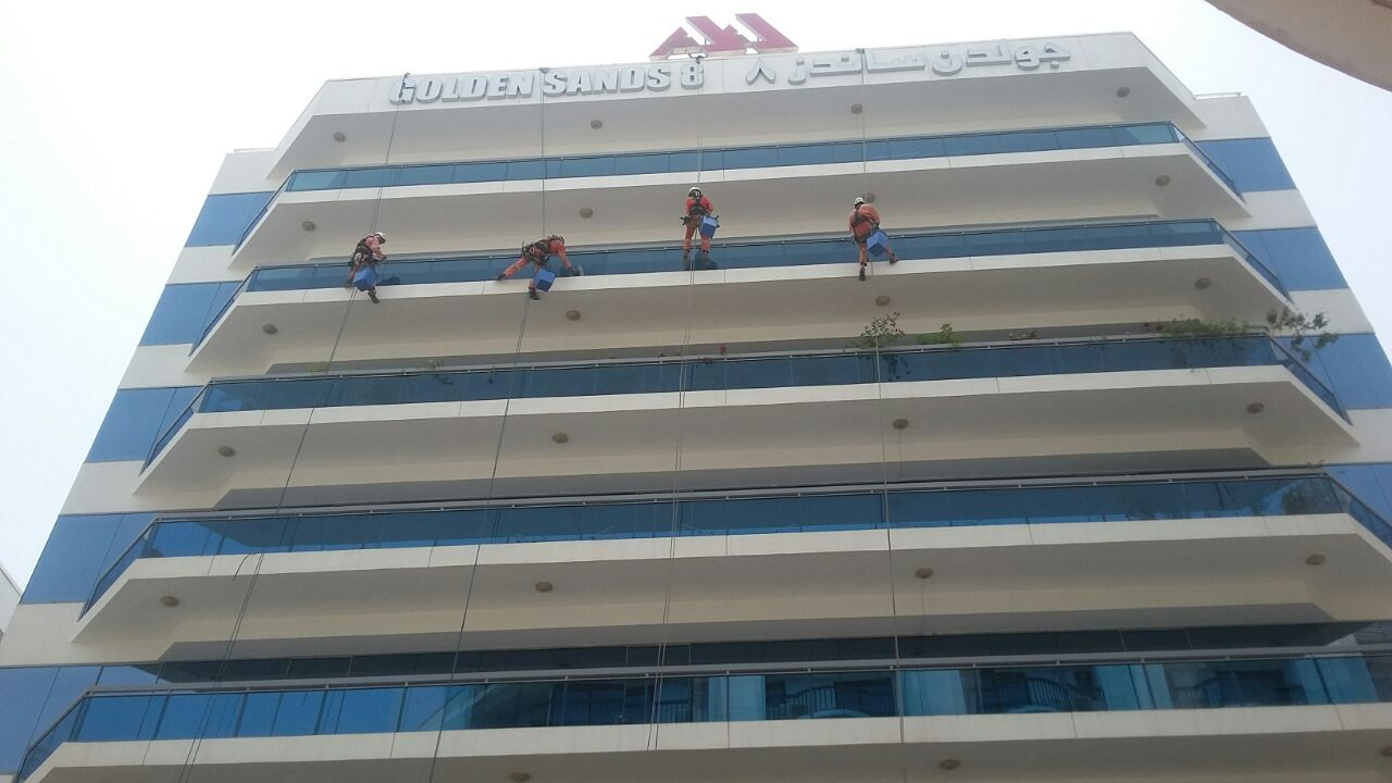 GST External building glass cleaning services at Golden Sands ...