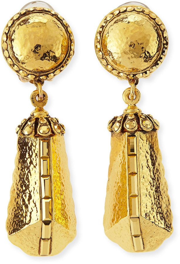 Jose & Maria Barrera 24K Gold-Plated Chain Drop Clip-On Earrings DR82URT