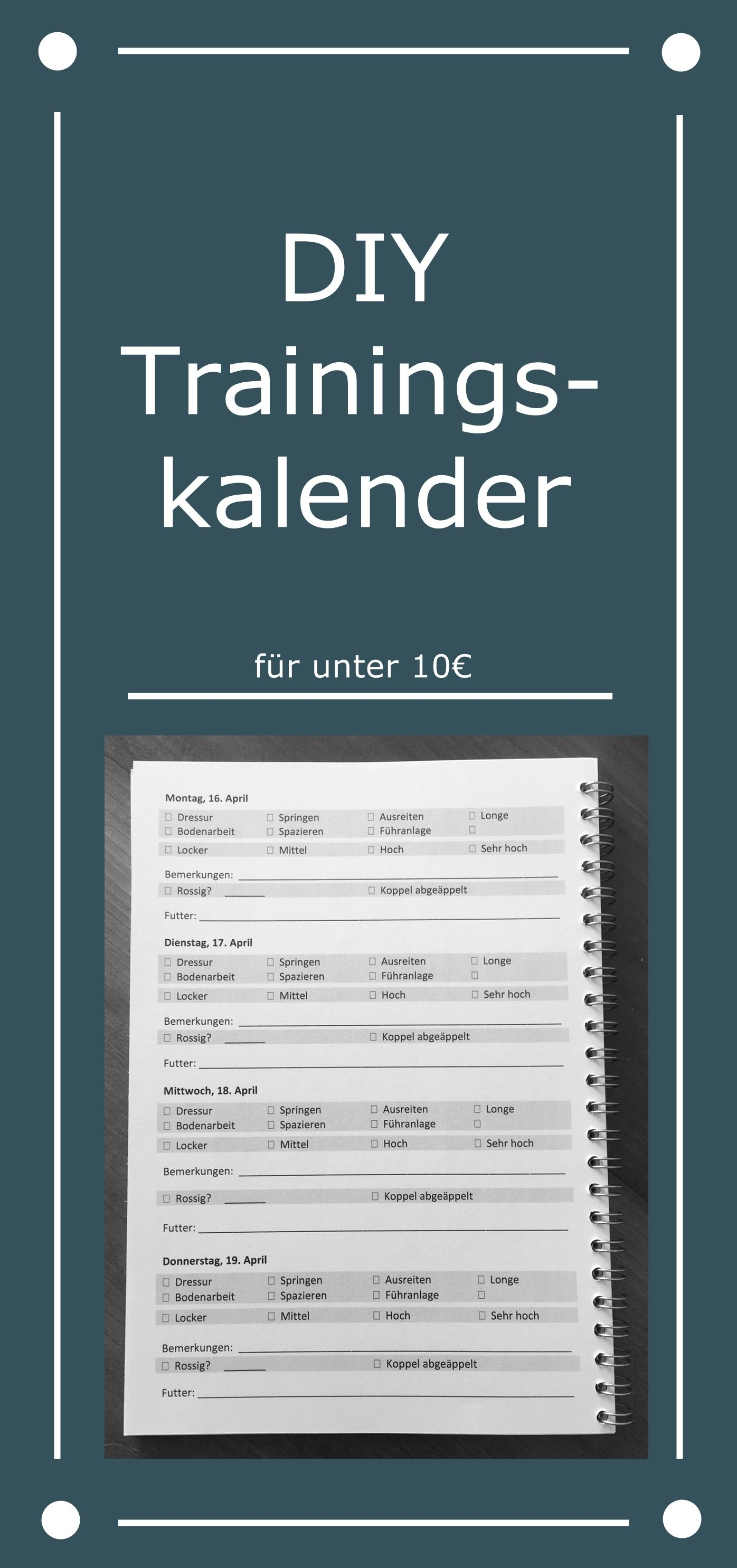 Trainingskalender Diy Inklusive Fertiger Vorlage Trainingskalender Trainings Kalender Training