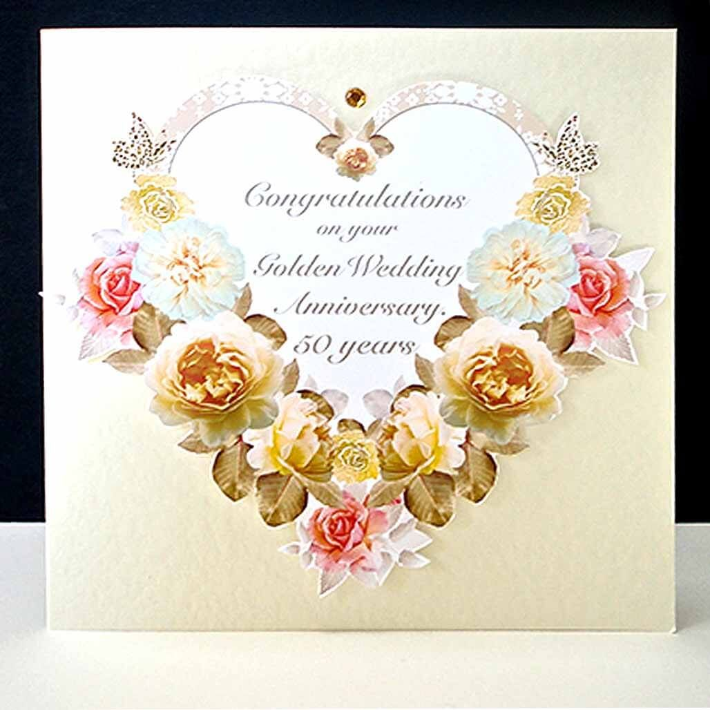 Lots Of Heart and Flower Wedding Anniversary Greeting Card