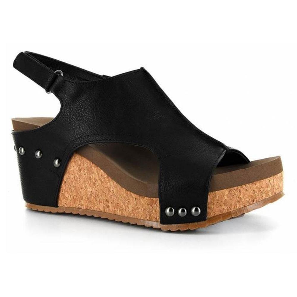 6eca062f400 Mulan Wedge By Corkys Footwear Wedge Shoes