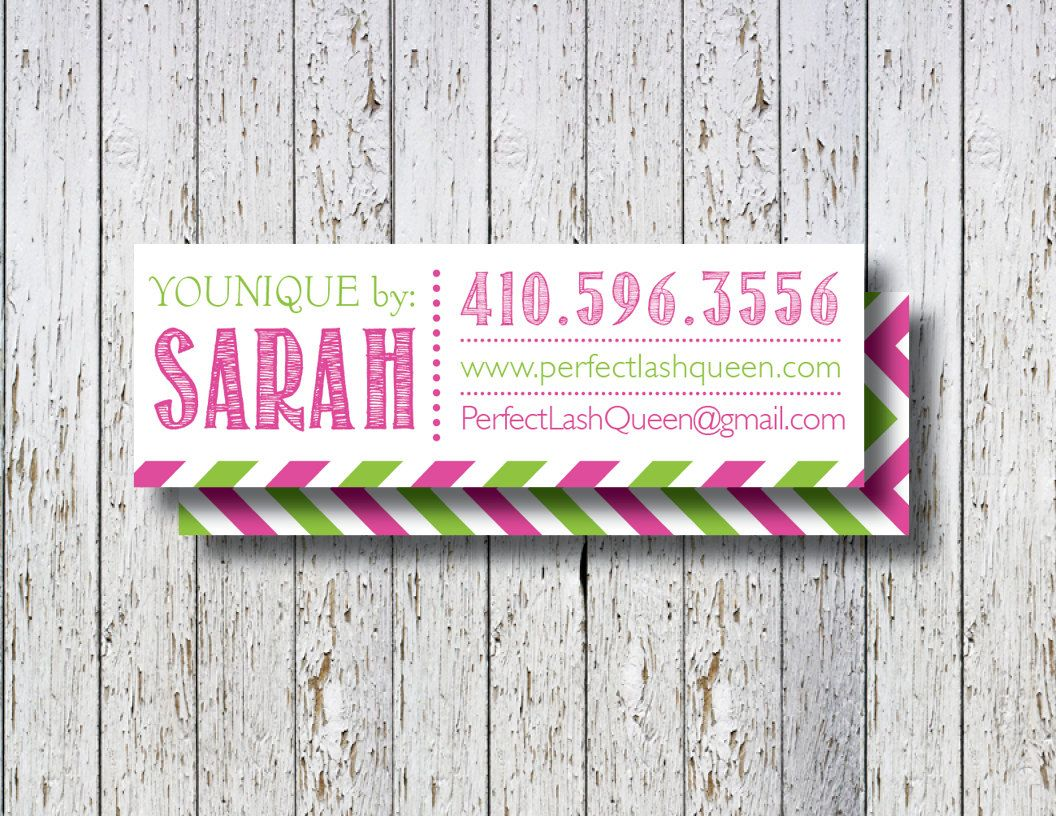 Younique skinny business card, Younique business card, Younique ...