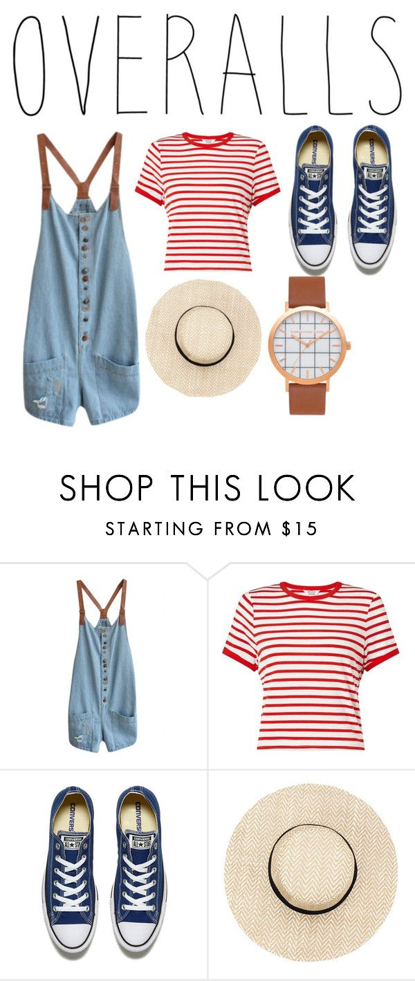 """""""""""Overalls"""" I like this set😆"""" by smiling4miles ❤ liked on Polyvore featuring WithChic, Miss Selfridge, Converse, TrickyTrend and overalls"""