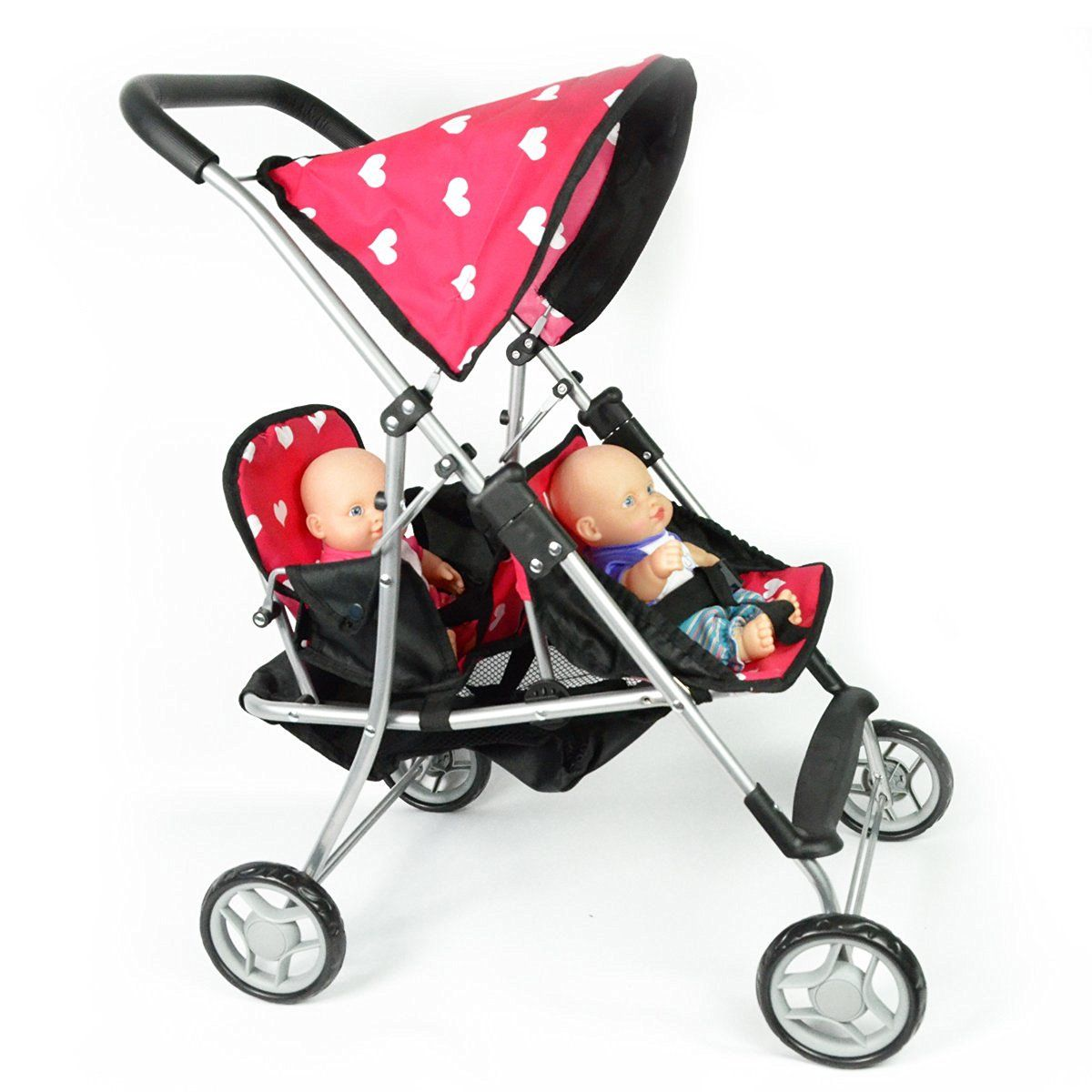 My First Doll Twin Stroller Cutest Heart Design Doll