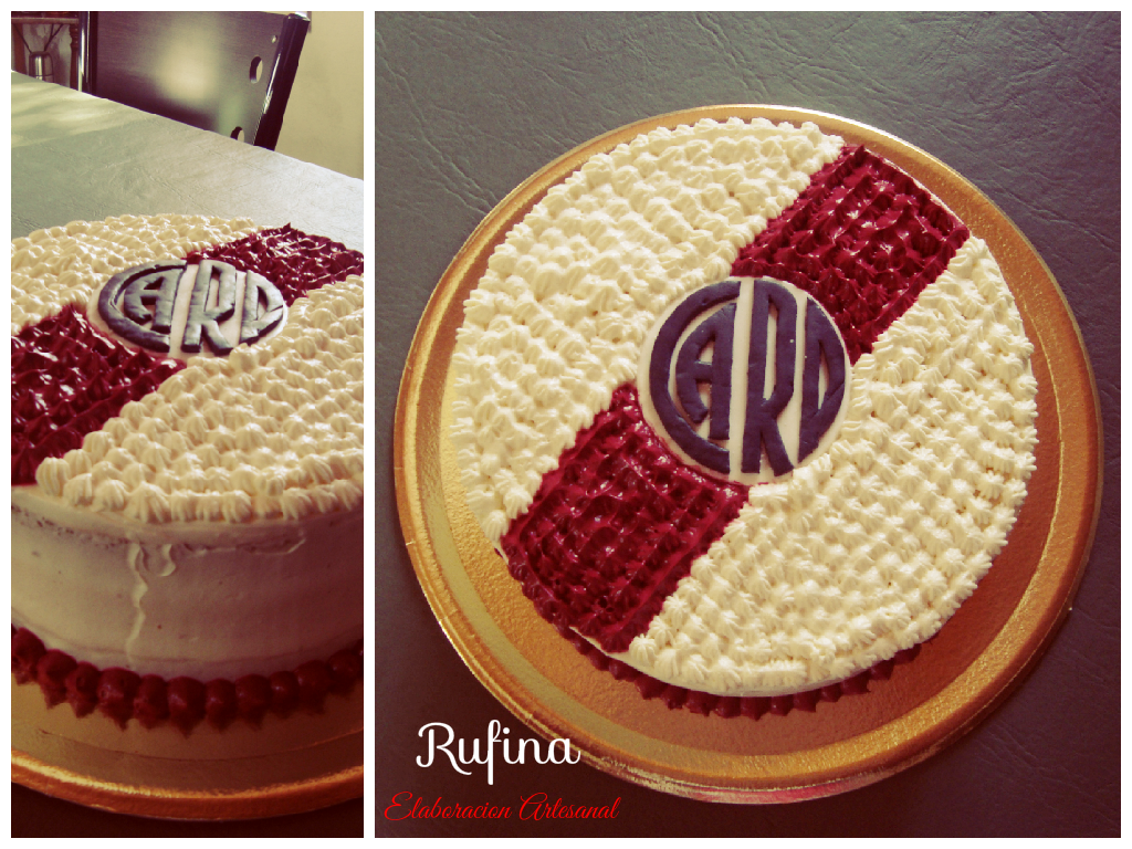Torta River Plate,Mousse de Chocolate Blanco,logo comestible ...