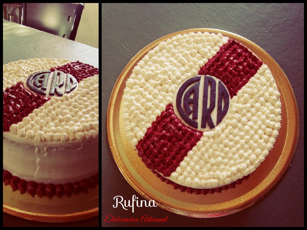 Torta River Plate,Mousse de Chocolate Blanco,logo comestible ...