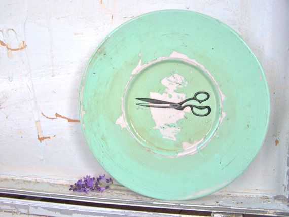 Shabby Chic Cottage Sign Antique Scissors Wall Decor by SweetMeas, $22.50