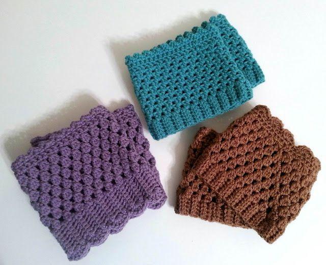 Crochet boot cuffs   puños para botas   Pinterest   Botas, Puños y ...