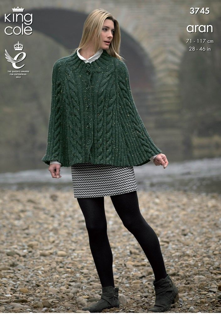 a7b92c179 Cape and Sweater in King Cole Fashion Aran - 3745 - King Cole ...