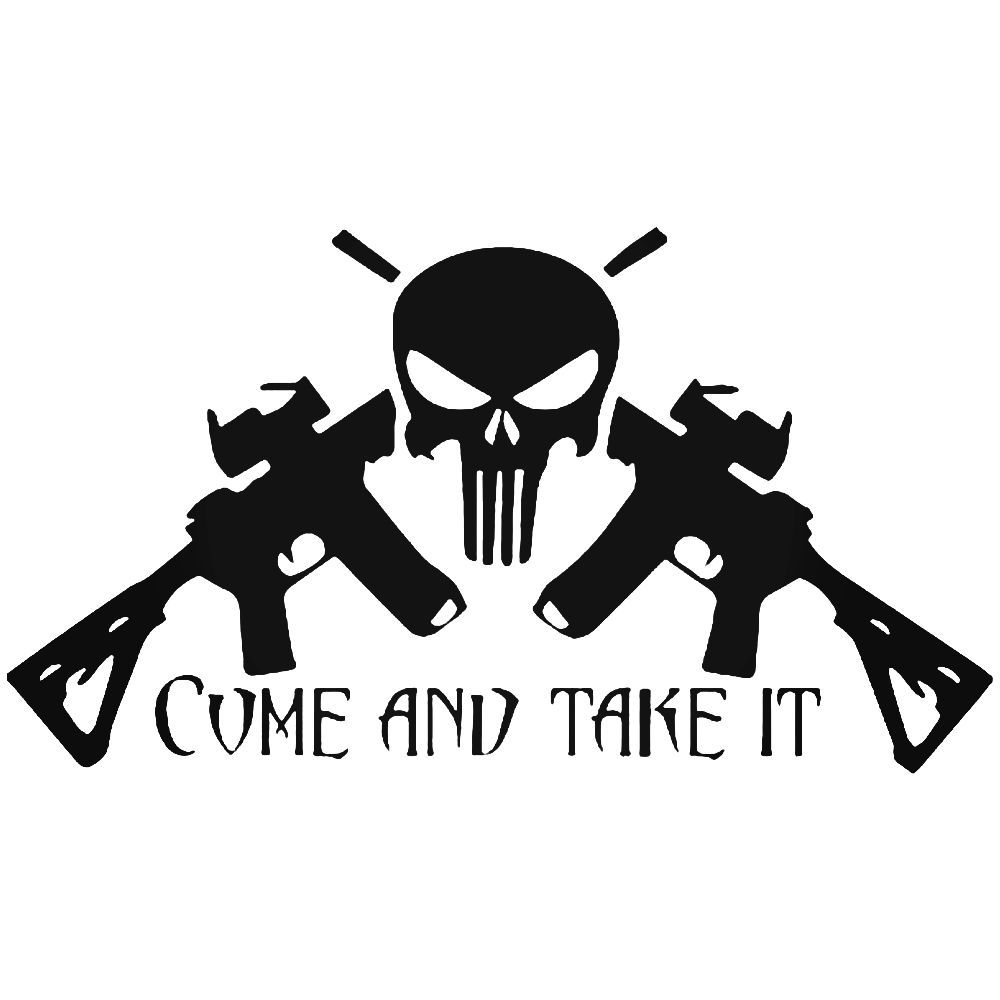 Girls With Guns,Punisher Skull,Molon Labe,Shoot Like a Girl,Sticker,Vinyl Decals