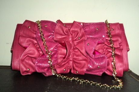 Available @ TrendTrunk.com Fuschia Clutch with hidden strap. By Rampage. Only $23!
