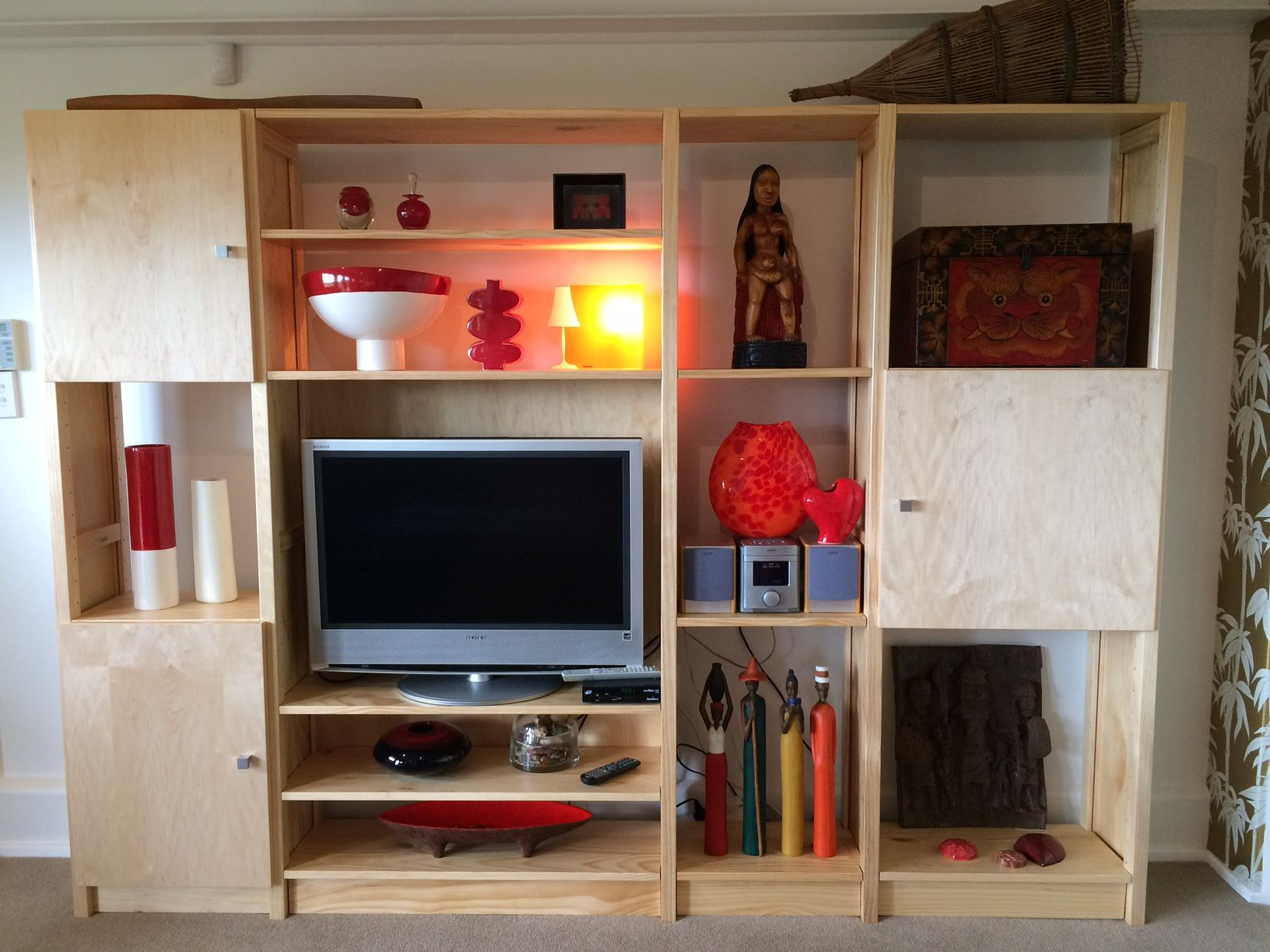 Space Saving Solutions Jane 39s New Unit To Fit The Smaller Tv By Lundia Lundia