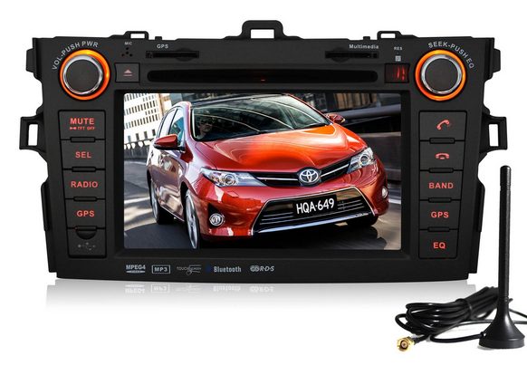 Pumpkin Two 2 Din Car Stereo Gps Navigation System Audio Head Unit 7 Inch For Toyota Corolla 2007 2010 Car Stereo Toyota Corolla Gps