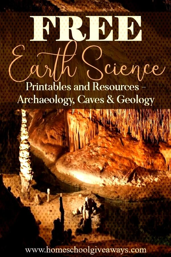 Earth Science Printables and Resources, Archaeology, Caves and GeologyFREE Earth Science Printables
