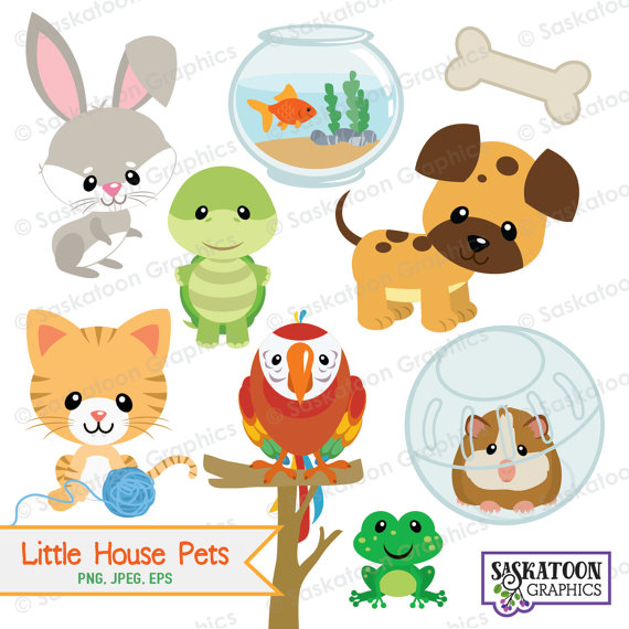 Little House Pets Animal Clipart Instant Download File Etsy Animal Clipart Clip Art Simple Collage