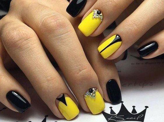 15 Yellow Nails Art Design Yellow Nail Art Yellow Nails Summer Nails